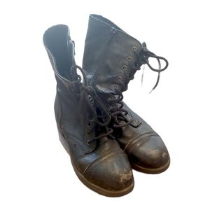 Mossimo Supply. Co Black Combat Moto Boots Size 9